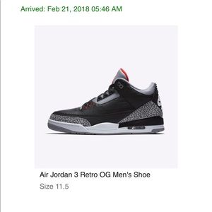 2884b94b7fb Jordan Shoes | 3 Black Cement 2018 Bnib Size 115 | Poshmark